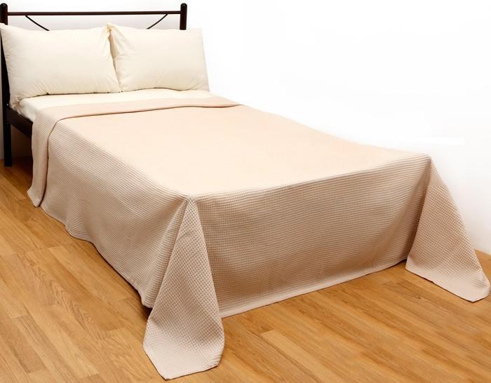Κουβέρτα Πικέ Υπέρδιπλη Viopros Στέφανι Beige 53145