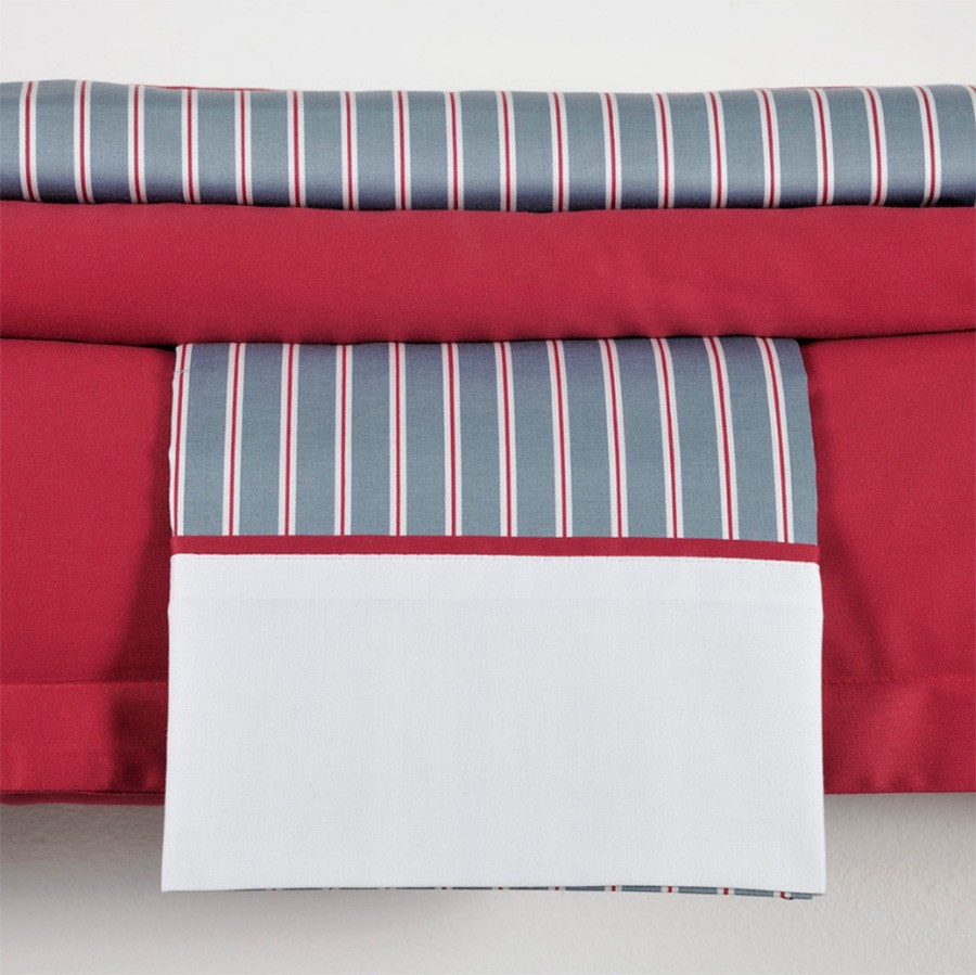 Ζεύγος Μαξιλαροθήκες Oxford Down Town Andrea Red S 619 home   κρεβατοκάμαρα   μαξιλάρια   μαξιλαροθήκες