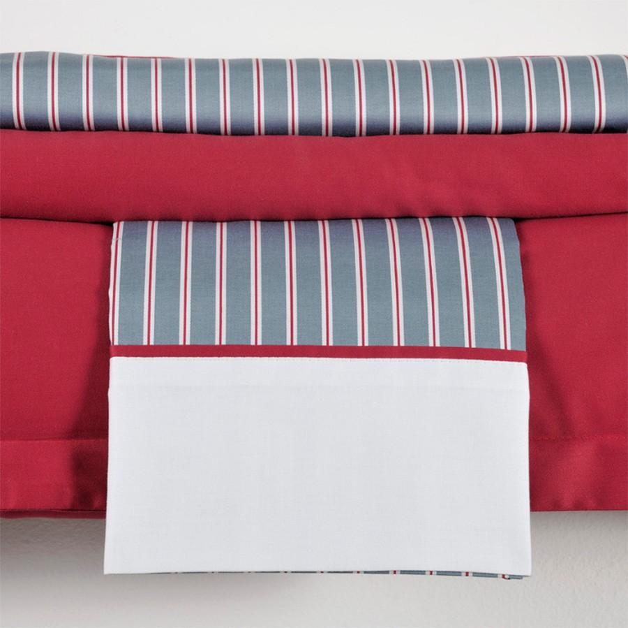 Ζεύγος Μαξιλαροθήκες Με Φάσα Down Town Andrea Red S 619 home   κρεβατοκάμαρα   μαξιλάρια   μαξιλαροθήκες