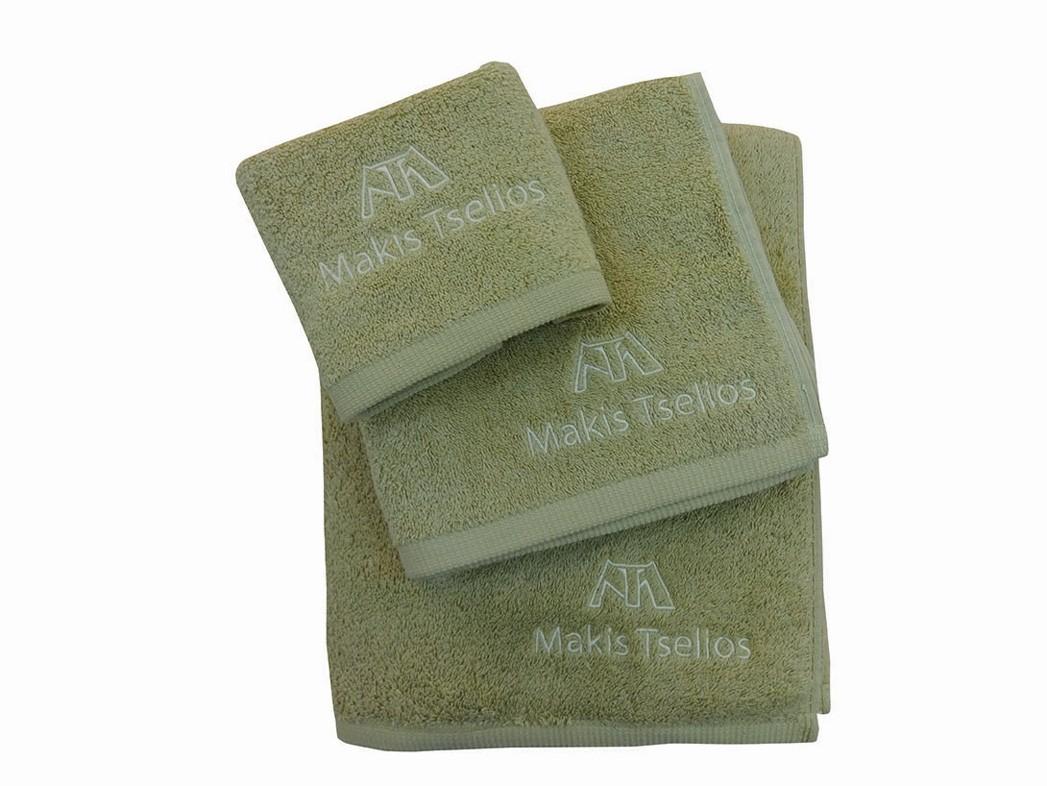 Πετσέτες Μπάνιου (Σετ 3τμχ) Makis Tselios Minimal Olive