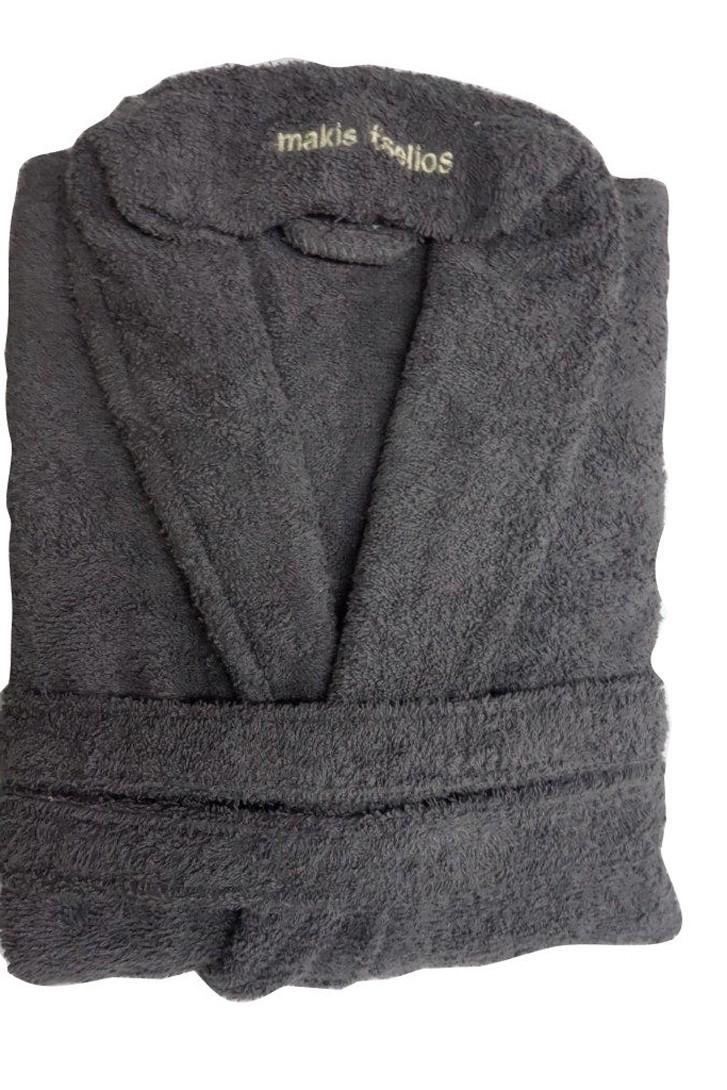 Μπουρνούζι Makis Tselios Bath Dark Grey SMALL SMALL