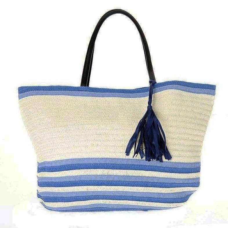 Ψάθινη Τσάντα Παραλίας InArt 5-42-538-0004 home   θαλάσσης   τσάντες παραλίας