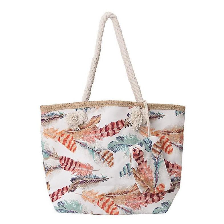 Τσάντα Παραλίας InArt Feathers 5-42-151-0005 home   θαλάσσης   τσάντες παραλίας