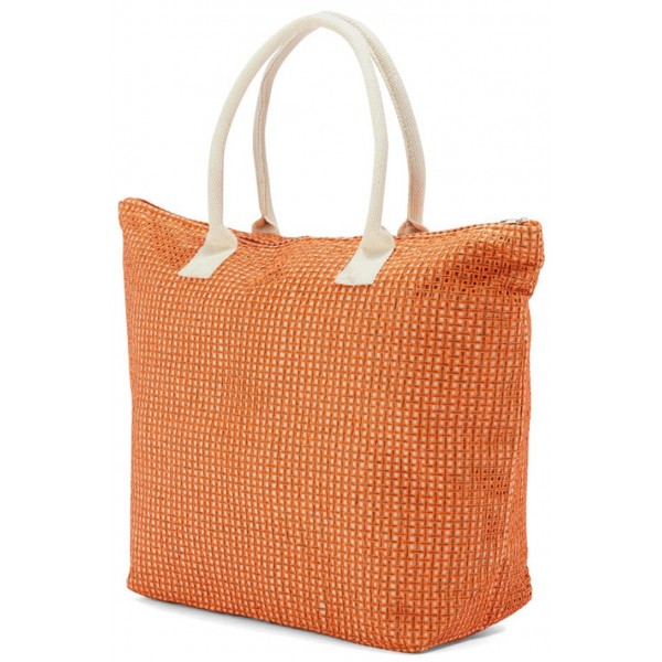 Ψάθινη Τσάντα Θαλάσσης Benzi 4703 Orange