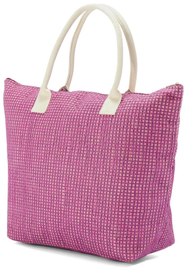 Ψάθινη Τσάντα Παραλίας Benzi 4703 Pink