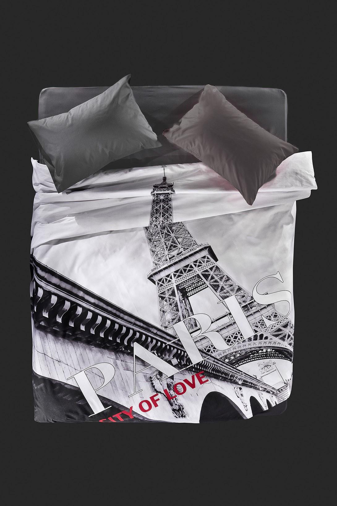 Παπλωματοθήκη Υπέρδιπλη (Σετ) Nima Focus Eiffel