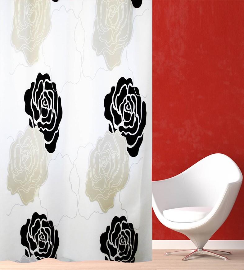 Κουρτίνα Μπάνιου (180x180) San Lorentzo Black Rose