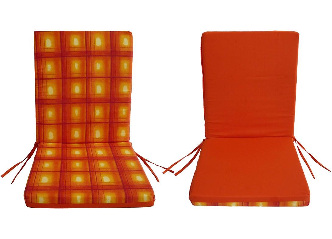 Μαξιλάρι Καρέκλας Με Πλάτη 2 Όψεων Fratoni DobleCara Orange