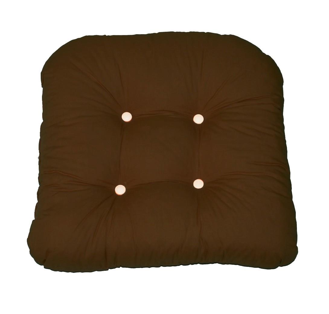 Μαξιλάρι Καρέκλας Bamboo Πέταλο Fratoni Brown