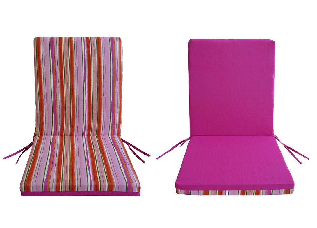 Μαξιλάρι Καρέκλας Με Πλάτη 2 Όψεων Fratoni DobleCara Pink