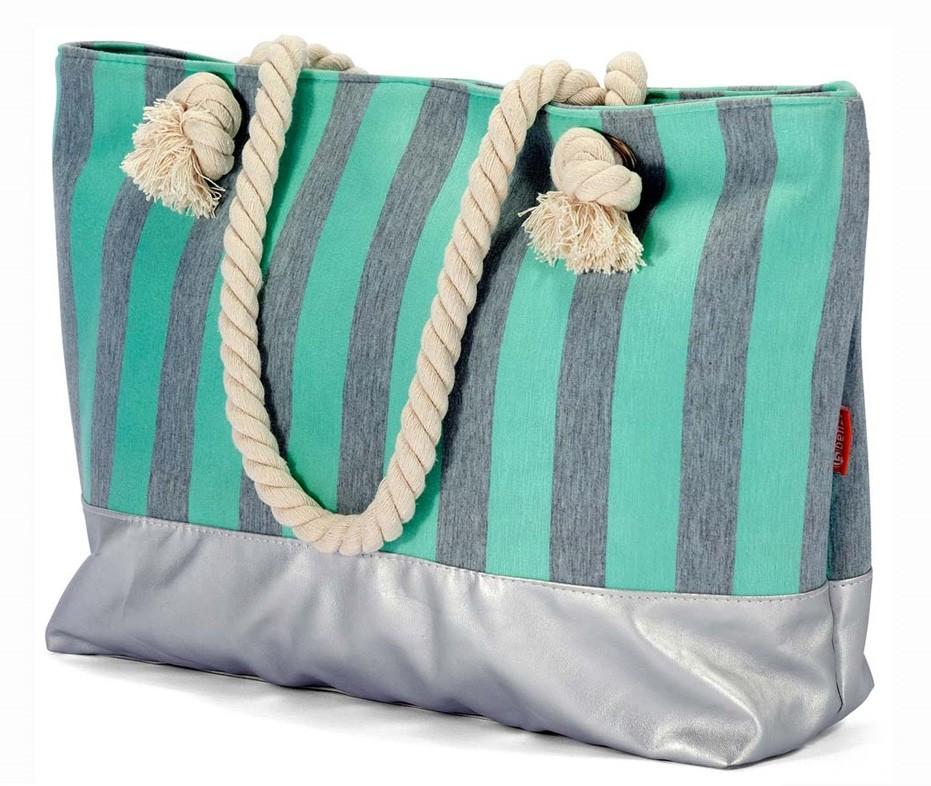 Τσάντα Παραλίας Benzi 4531 Mint home   θαλάσσης   τσάντες παραλίας