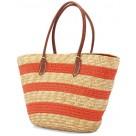 Ψάθινη Τσάντα Παραλίας Benzi 4643 Orange