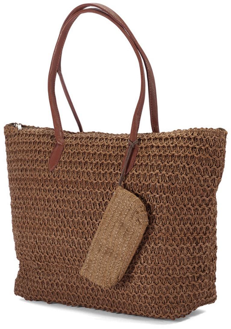Ψάθινη Τσάντα Παραλίας Benzi 4336 Brown