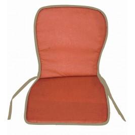 Μαξιλάρι Καρέκλας Κιθάρα Με Πλάτη Fratoni Terracotta