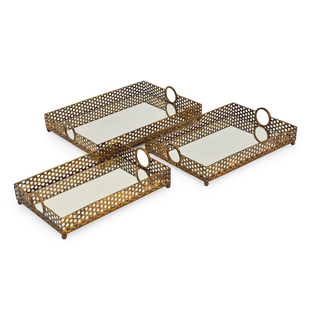 Δίσκοι Σερβιρίσματος (Σετ 3τμχ) InArt Oro 3-70-294-0026