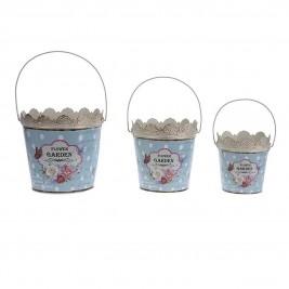 Κασπώ (Σετ 3τμχ) InArt British Garden Buckets 3-70-492-0001