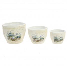 Κασπώ (Σετ 3τμχ) InArt Tea Time Lavender Pots 3-70-031-0109