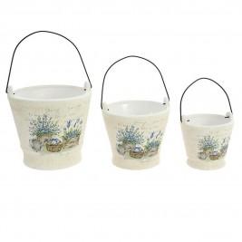 Κασπώ (Σετ 3τμχ) InArt Tea Time Lavender Buckets 3-70-031-0111