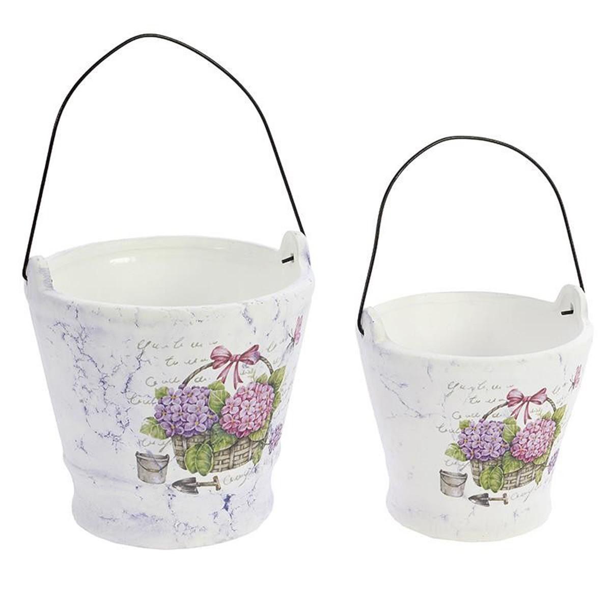 Κασπώ (Σετ 2τμχ) InArt Tea Time Hortensia Buckets 3-70-031-0124