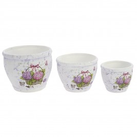 Κασπώ (Σετ 3τμχ) InArt Tea Time Hortensia Pots 3-70-031-0127