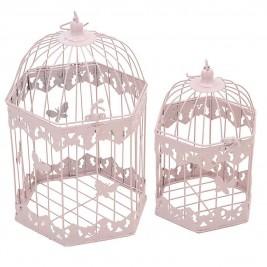 Φαναράκια (Σετ 2τμχ) InArt Gilded Cage Pink Large 3-70-207-0080