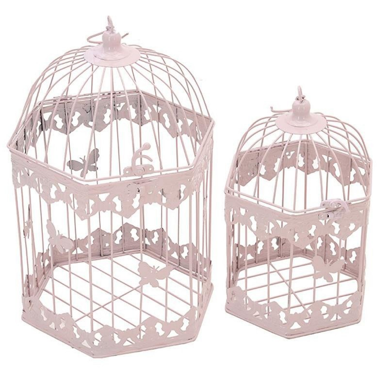 Φανάρια (Σετ 2τμχ) InArt Gilded Cage Pink Large 3-70-207-0080