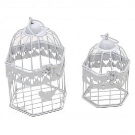 Φανάρια/Κλουβιά (Σετ 2τμχ) InArt Gilded Cage White 3-70-207-0081