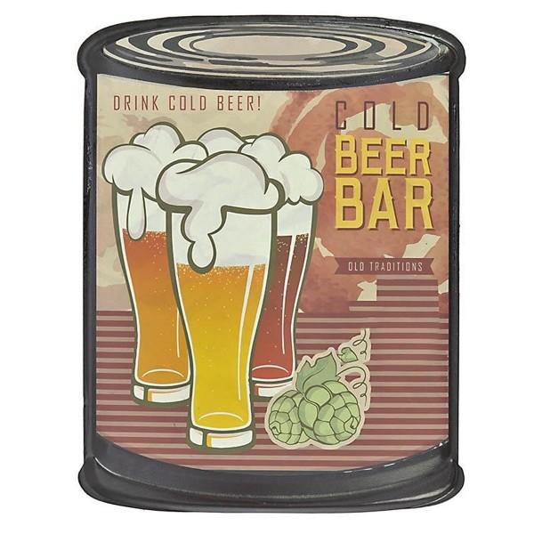 Διακοσμητική Ταμπέλα InArt Vintage Bistro Beers 3-70-773-0077