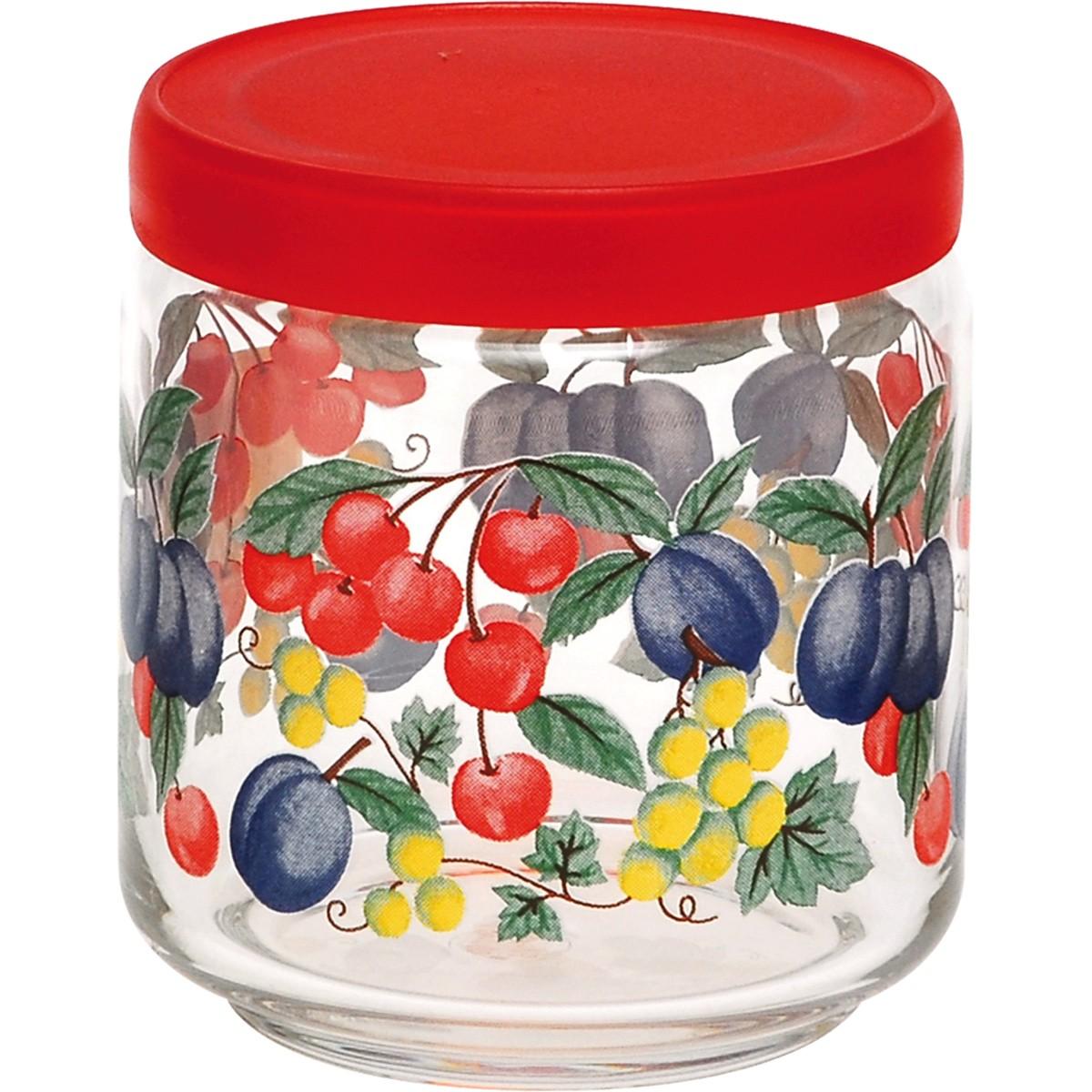 Βάζο Κουζίνας (500ml) Home Design Fruity Life Red ASFL/2