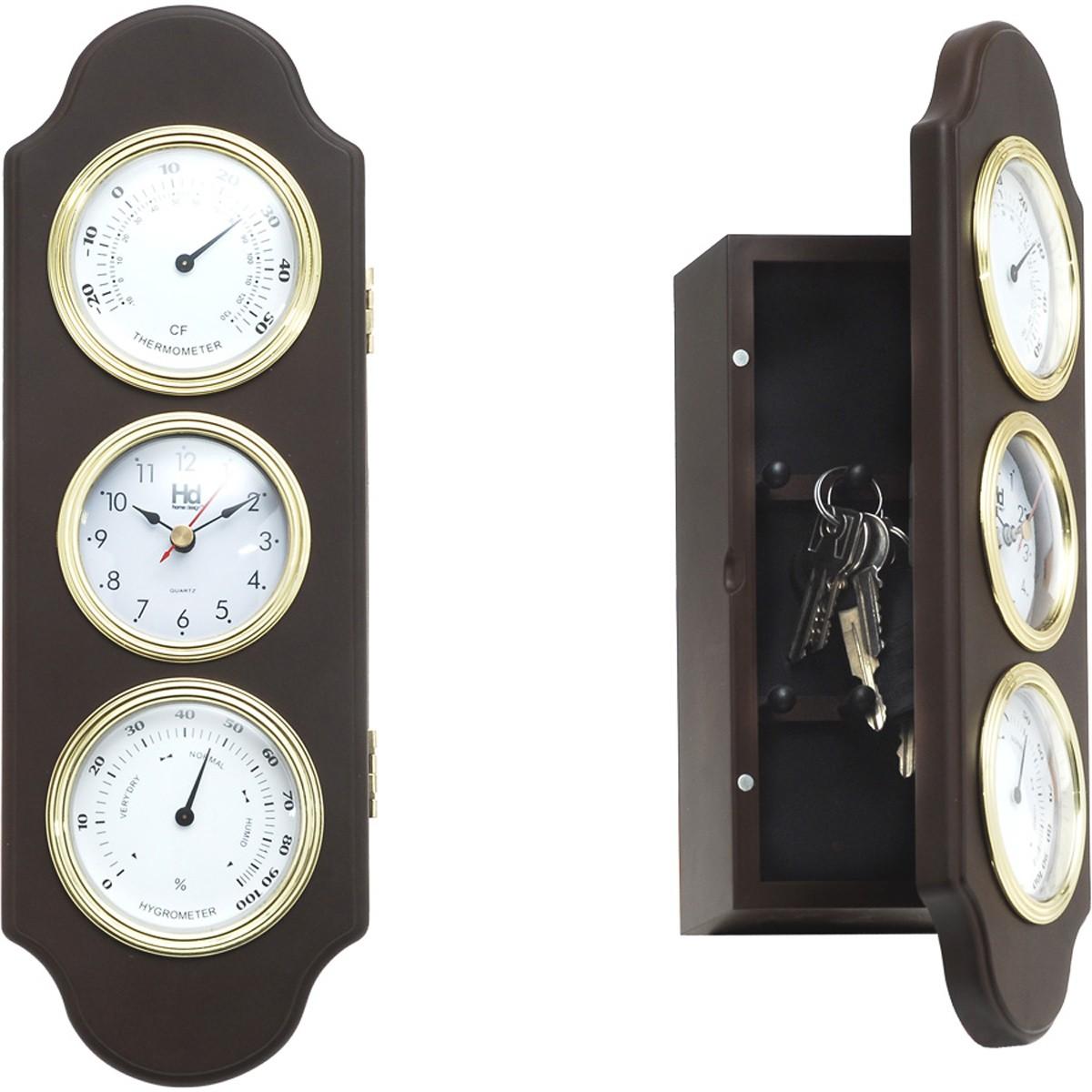 Ρολόι Τοίχου - Κλειδοθήκη Home Design DAN02BB