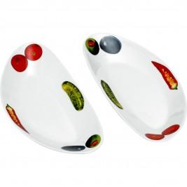 Πιάτα Φρούτου (Σετ 2τμχ) Home Design CHY013