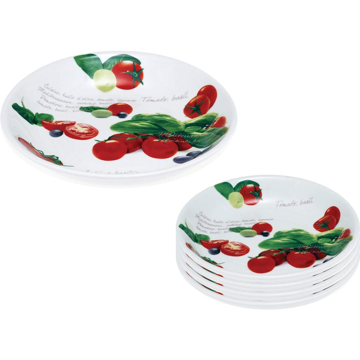Πιάτα Φαγητού Ρηχά (Σετ 5τμχ) Home Design CHC34/481A home   κουζίνα   τραπεζαρία   πιάτα μπωλ