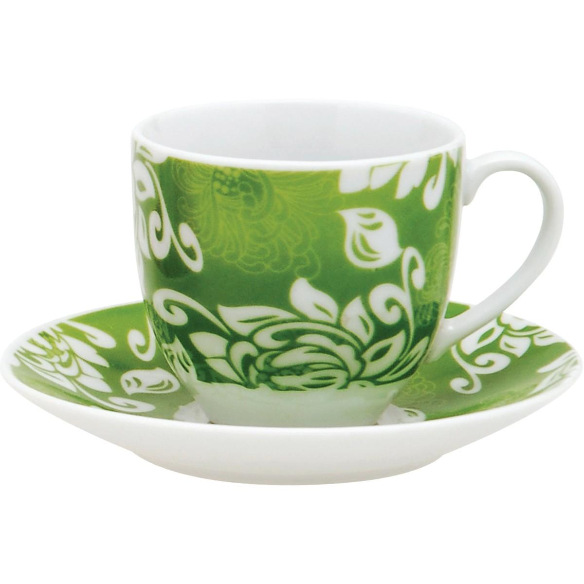 Φλυτζάνια Καφέ + Πιατάκια (Σετ 6τμχ) Home Design MOC27/789G