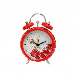 Επιτραπέζιο Ρολόι - Ξυπνητήρι Home Design DAN9408/4R Red