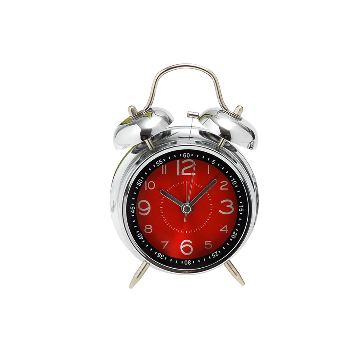Επιτραπέζιο Ρολόι - Ξυπνητήρι Home Design DAN40/8R Red/SIlver