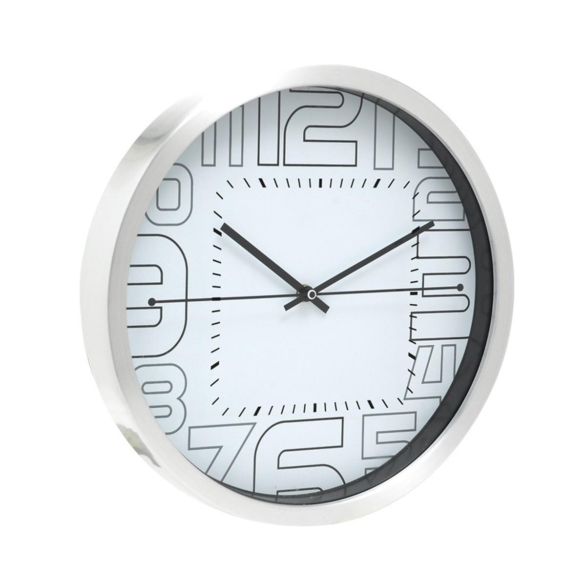 Ρολόι Τοίχου Home Design DAN2214WE White/Silver