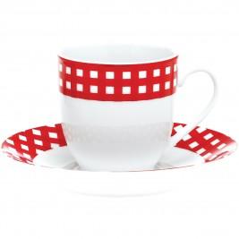 Φλυτζάνια Καφέ + Πιατάκια (Σετ 6τμχ) Home Design ACL222/C
