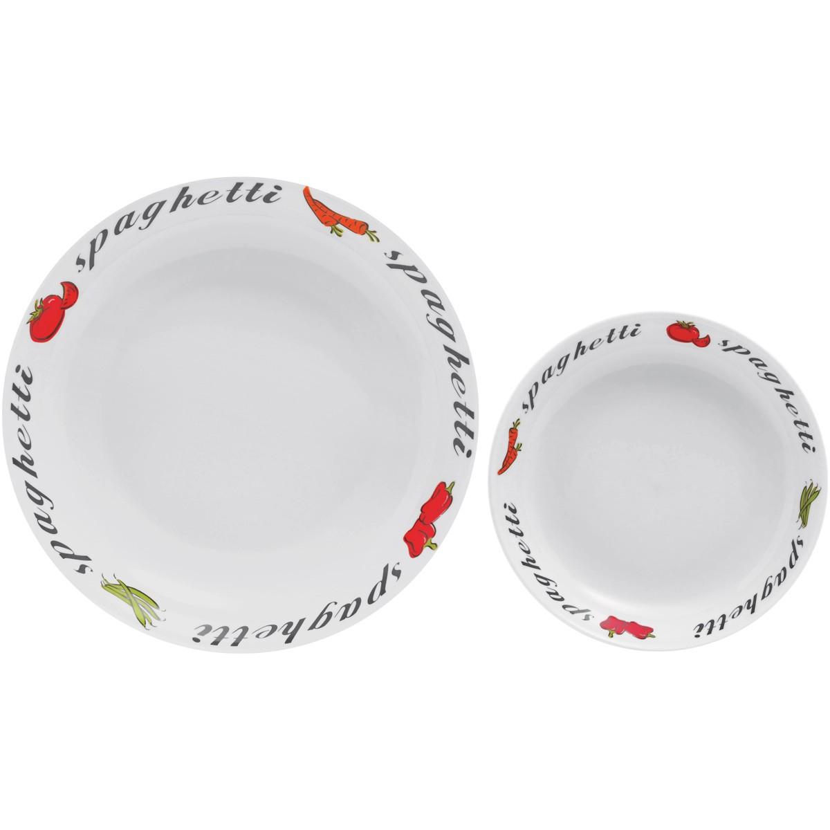 Πιάτα Φαγητού Βαθιά + Μπωλιέρα (Σετ) Home Design LEB1301/7