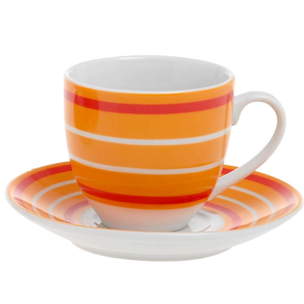 Φλυτζάνια Καφέ + Πιατάκια (Σετ 6τμχ) Home Design CXI183/02C