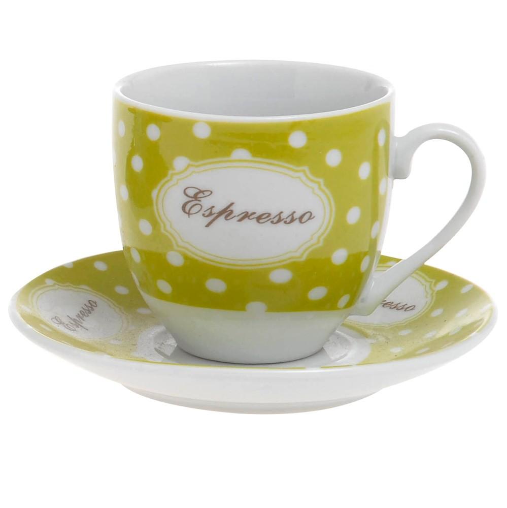 Φλυτζάνια Καφέ + Πιατάκια (Σετ 6τμχ) Home Design CXI183/03B