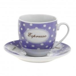 Φλυτζάνια Καφέ + Πιατάκια (Σετ 6τμχ) Home Design CXI183/03C