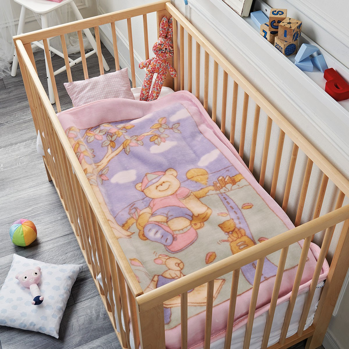 Κουβέρτα Βελουτέ Αγκαλιάς Kentia Baby Cloud