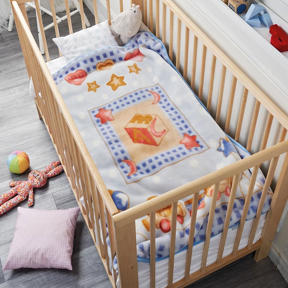 Κουβέρτα Βελουτέ Αγκαλιάς Kentia Baby Tom 55063