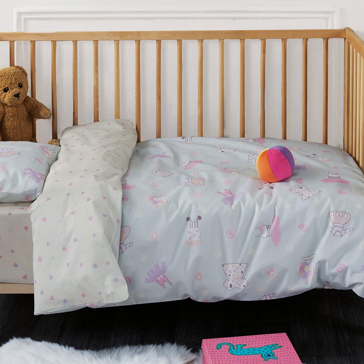 Κουβερλί Παιδικό (Σετ) Disney Minnie Lilac