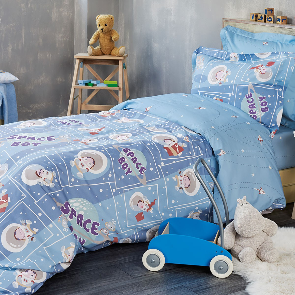 Παπλωματοθήκη Μονή (Σετ) Kentia Kids Collection Spaceboy 55142