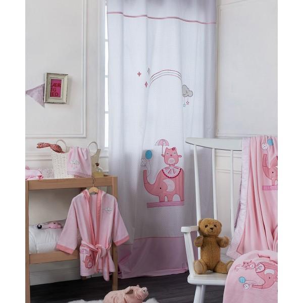 Παιδική Κουρτίνα (140x270) Με Τρέσα+Θηλιές Kentia Baby Happy Time