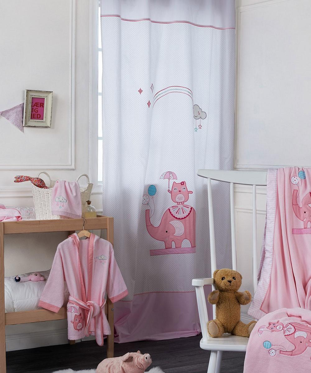 Παιδική Κουρτίνα (140×270) Με Θηλιές Kentia Baby Happy Time