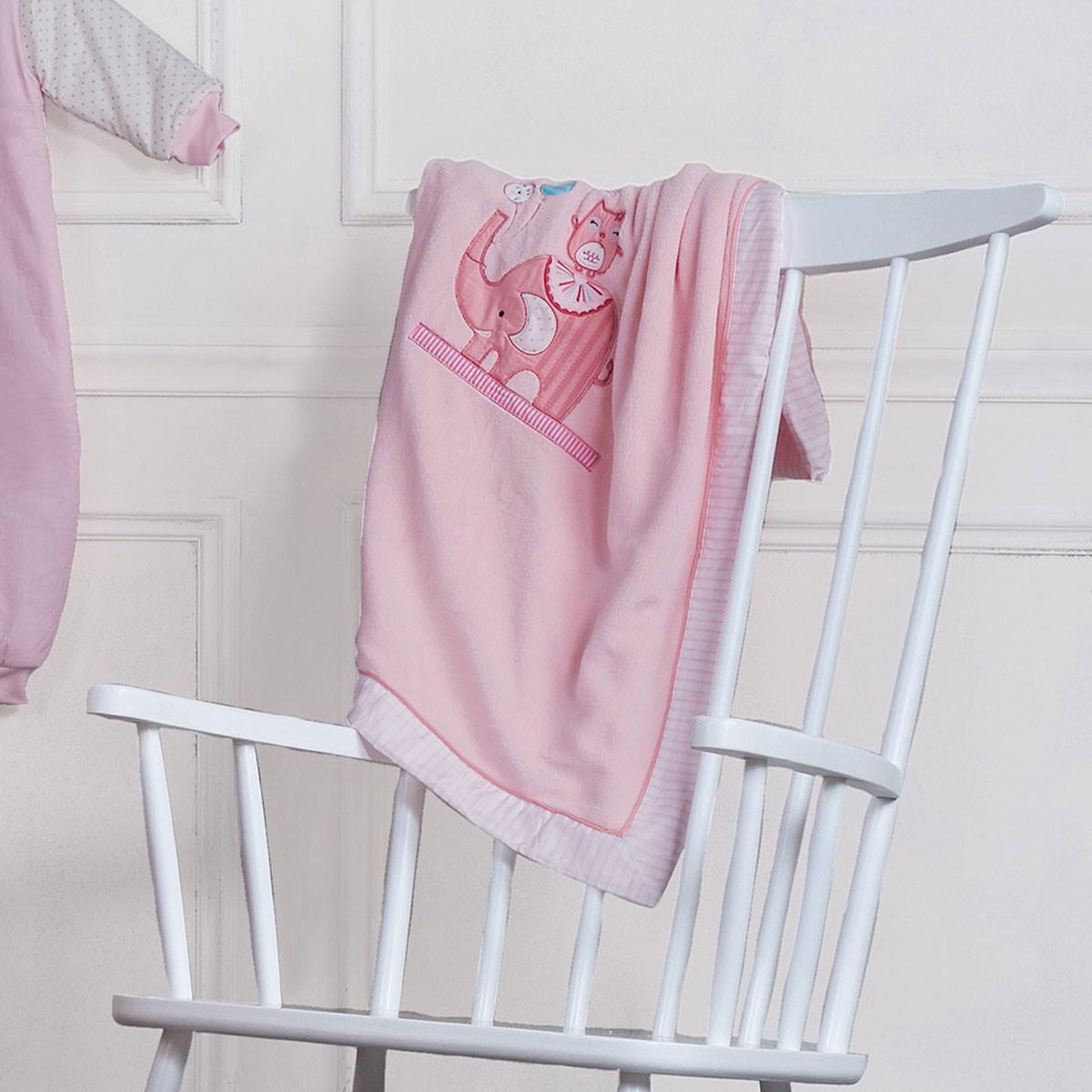 Κουβέρτα Βελουτέ Κούνιας Kentia Baby Happy Time