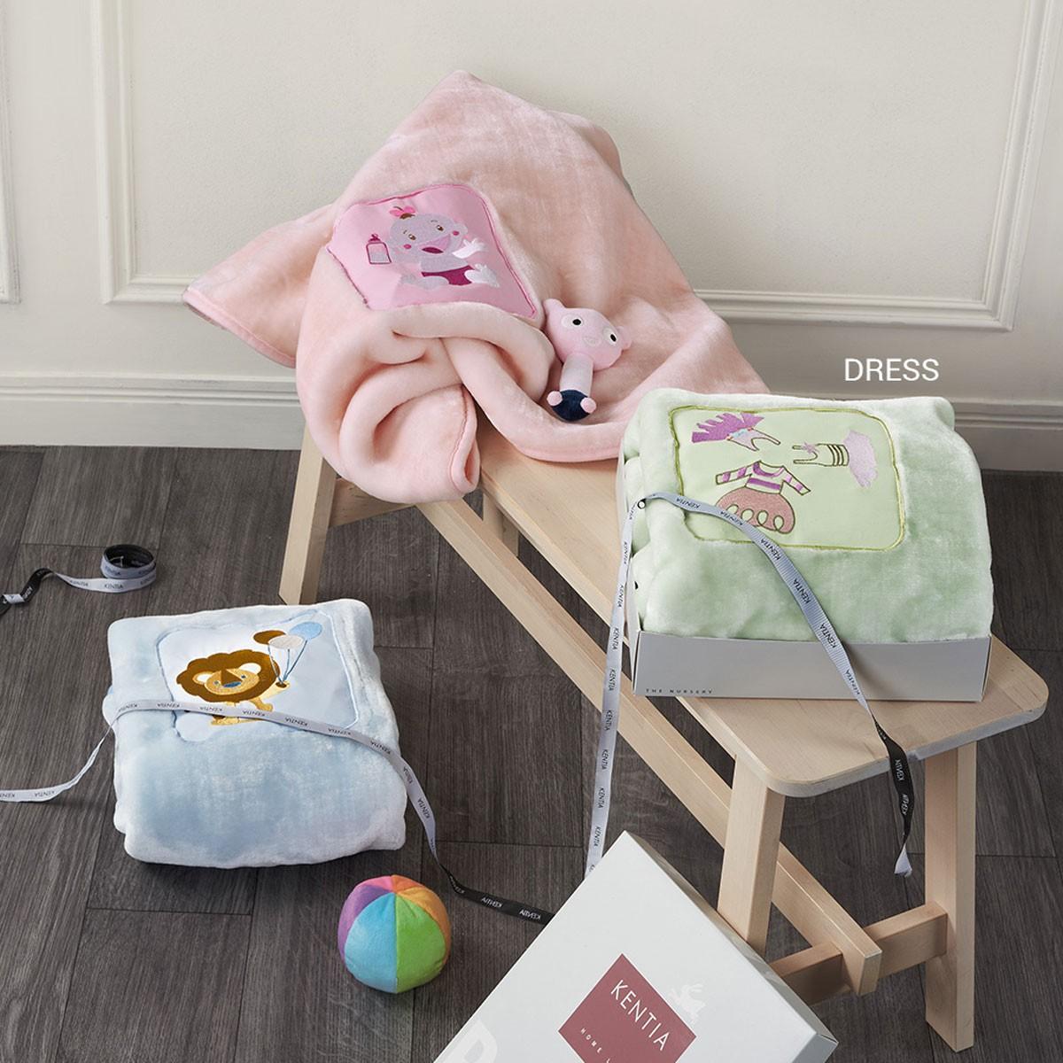 Κουβέρτα Βελουτέ Αγκαλιάς Kentia Baby Dress
