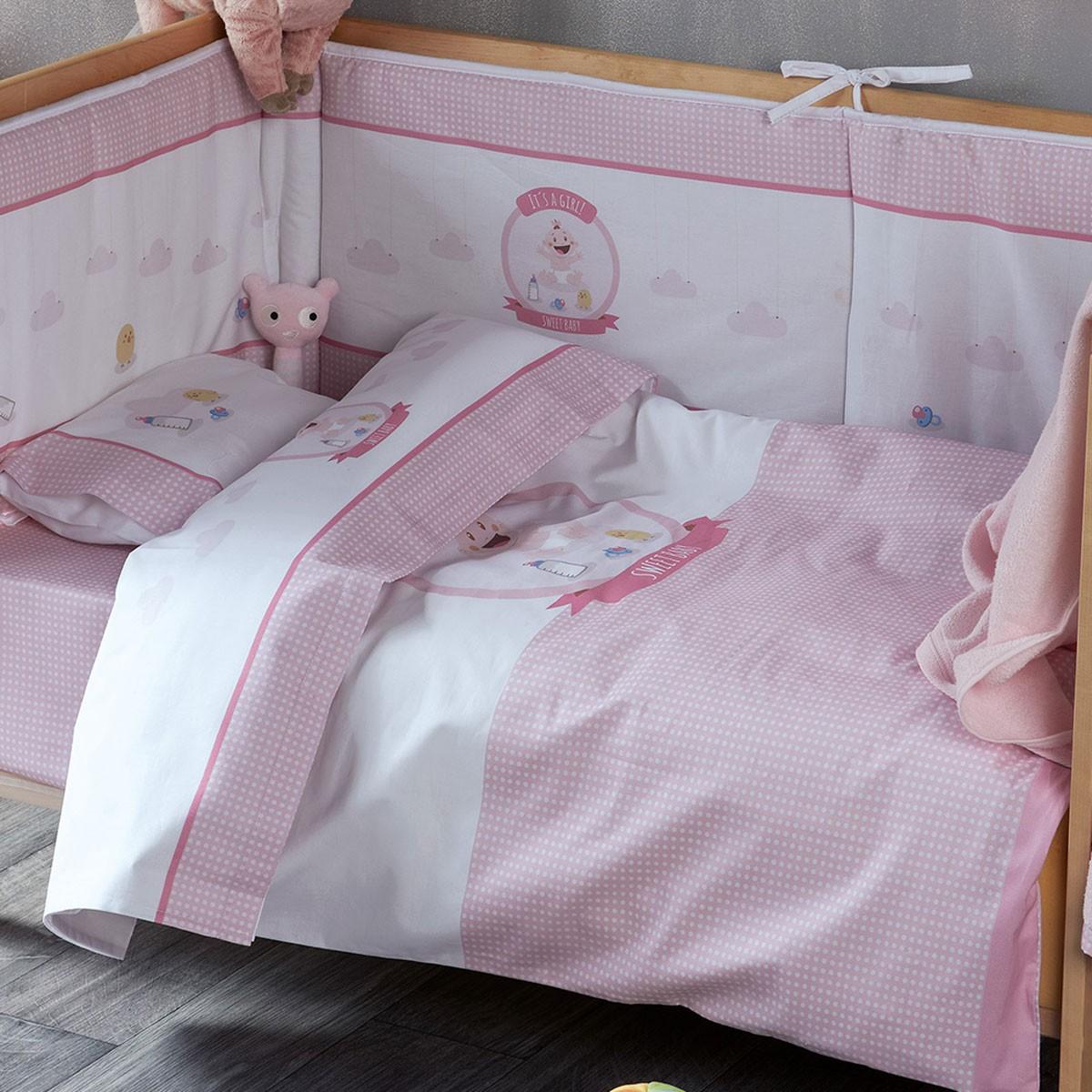 Παπλωματοθήκη Κούνιας (Σετ) Kentia Baby Sweet Baby 14